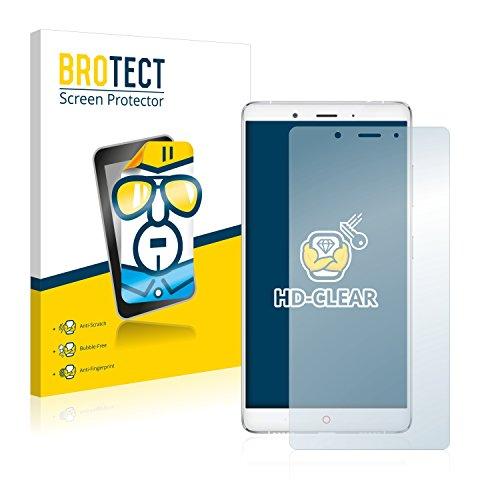 BROTECT Schutzfolie kompatibel mit ZTE Nubia Z11 Max [2er Pack] - kristall-klare Bildschirmschutz-Folie, Anti-Fingerprint
