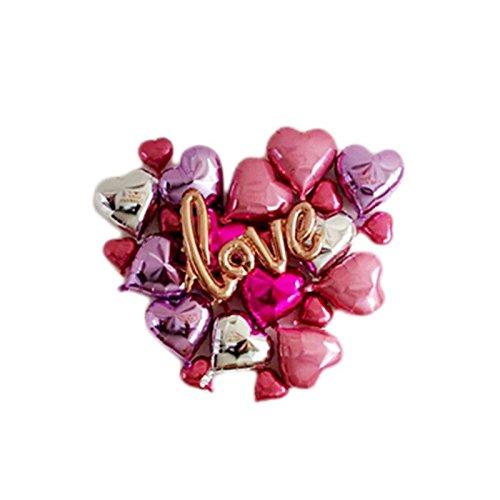 ischt Herz Love Aluminium Folie Film Aufblasbare Ballons Luftballons Geburtstag Urlaub Hochzeit Party Dekoration Metallic Ballon (Hochzeit Ballon)