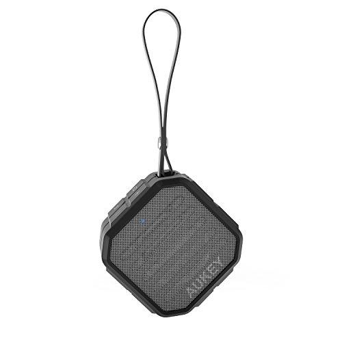AUKEY Mini Altoparlante Bluetooth Portatile da Esterno Microfono Incassato Doppia Rete Bassi Potenti con 3,5mm AUX-IN Jack Compatibile con Smartphone, Tablet e Dispositivi Bluetooth, ecc (SK-M13)