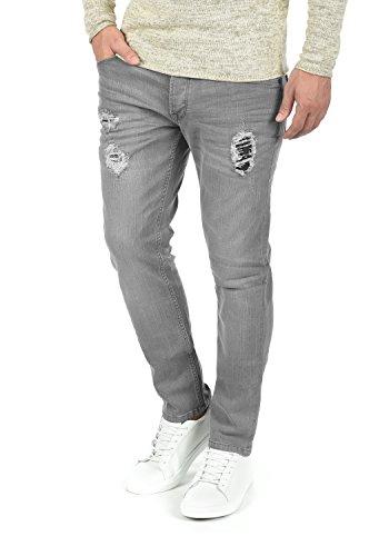 SOLID Moy Herren Jeans-Hose lange Hose Denim aus hochwertiger Baumwollmischung Slim Fit, Größe:W30/34, Farbe:Light Grey (9640) (Gewaschen Slim-fit-denim)