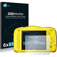 6x Savvies Pellicola Protettiva per Nikon Coolpix S33 Protezione Proteggi
