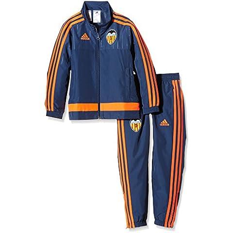 adidas Valencia Pre Suit Y - Chaqueta para niño, color azul marino / naranja, talla 164