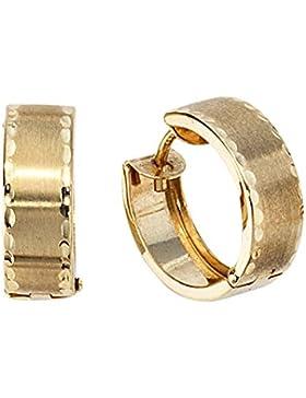 8 k ( 333 ) Gold Creolen - B 5,10 mm - Ø 14,50 mm