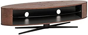 TECHLINK EL140DOSG Ellipse Elegant and Elevated Dark Oak Stand for Upto 70-Inch TV - Satin Grey