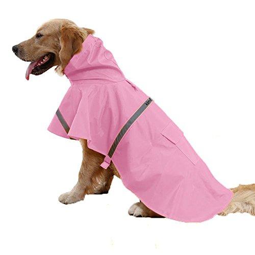 Kimfoxes wasserdicht Hunde Regenjacke Regenmantel Regenkleidung Kostüm Hundepullover Hundemantel, Regenjacke Regenmantel Winterjacke Hundebekleidung Hundejacke Wintermantel für kleine mittlere große Hunde