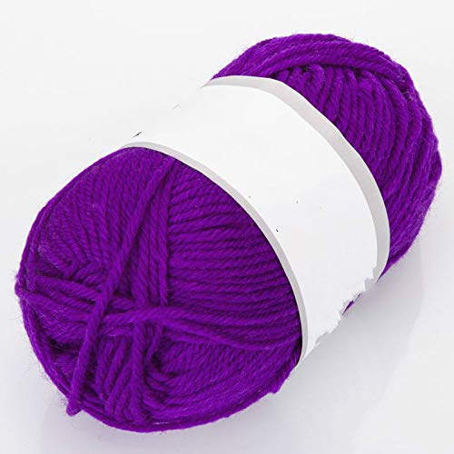 YYHMHMH Acrylfaser Dicke Linie Haken Hausschuhe Kissen Baby Mütze Wolle, Violett, Ca. 50 G/Gruppe -