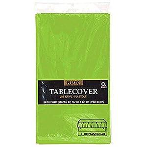 Mantel rectangular Amscan Internacional de Plástico (kiwi verde)