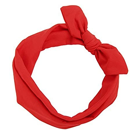 AllRight Rabbit Ears Headband Bow Hair Bands Red