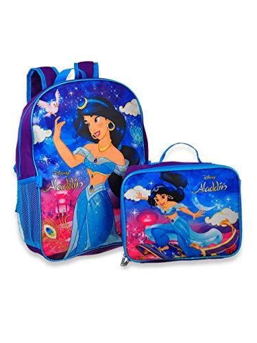 Princess Jasmin Aladdin Rucksack, 40,6 cm, mit Abnehmbarer Lunchbox