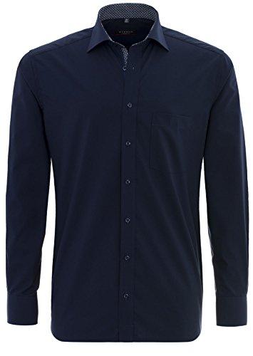 Herren Hemd Modern Fit Langarm Nachtblau