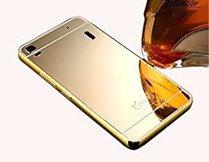 Carla Luxury Metal Bumper + Acrylic Mirror Back Cover Case For Lenovo A7000 Gold + Digital LED Watches Unisex Silicone Rubber Touch Screen by carla Store.