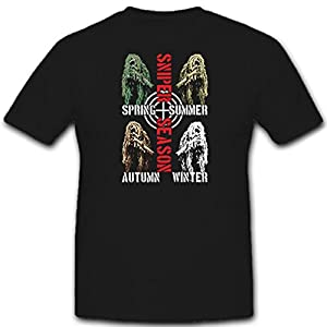 #11298 T-Shirt Ghillie Suit Military Special Unit Camouflage Sharpshooter Sniper Season Design