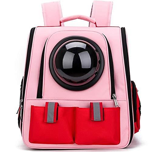 CRMY Haustier-Rucksack, gefaltet, porös, atmungsaktiv, heraus, beweglich (Color : Pink) (Gefaltet Rucksack)
