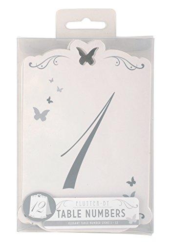 Schmetterling Tischnummern 1-12 - 4