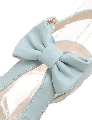 UWSZZ IL Sandali eleganti comfort Scarpe Donna-Sandali-Ufficio e lavoro / Formale / Casual-Tacchi / Spuntate / Plateau-Quadrato-Finta pelle-Nero / Blu / Rosa / Bianco Blue