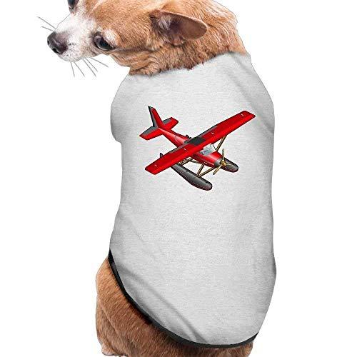 GSEGSEG Hundekleidung, Mantel, Kostüm, Pullover, Weste, für Hunde und Katzen, weich, dünn, Flugzeug, Rot, 3 Größen und 4 Farben - Hunde Flugzeug Kostüm