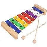 MVPOWER Xilófono Juguete de Madera de pino para Bebe y Niño de Instrumento Musical con 8