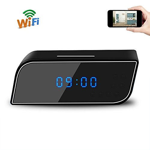 UYIKOO Mini Wifi Clock Camera Piccola Fotocamera Orologio HD 1080P P2P Home Security Wireless Visione Notturna / Motion Detection per IOS / Android Phone