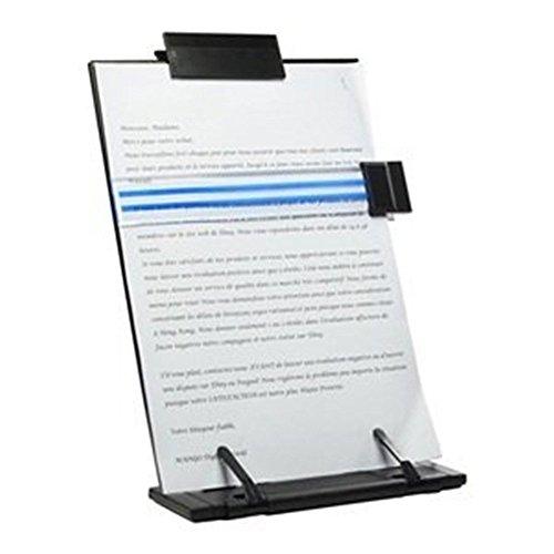 Lenhart - Soporte para documentos y libros con 7posiciones ajustables (metálico), negro