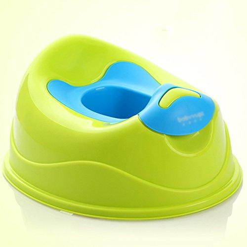 Toilettes pour enfants Potty Training Seat pour bébé/Enfants/Enfants, Tout en 1 Style, Facile à Nettoyer et sûr. (Couleur : Green)