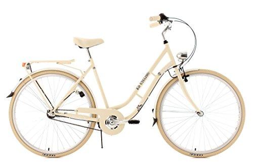 KS Cycling Cityrad Casino 3 Gänge - Bicicleta de paseo, color beige, ruedas 28', cuadro 53 cm