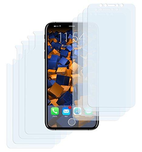 mumbi Schutzfolie kompatibel mit Apple iPhone X Folie klar, Displayschutzfolie (8x)
