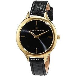 TOM TAILOR Watches Damen-Armbanduhr Analog Quarz Leder 5414801