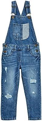 next Niñas Peto Vaquero Roto Pantalones Ropa Corte Estándar