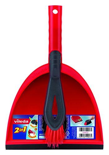 Vileda Kehrset 2-in-1 mit extra Borsten für Sauberkeit in den Ecken