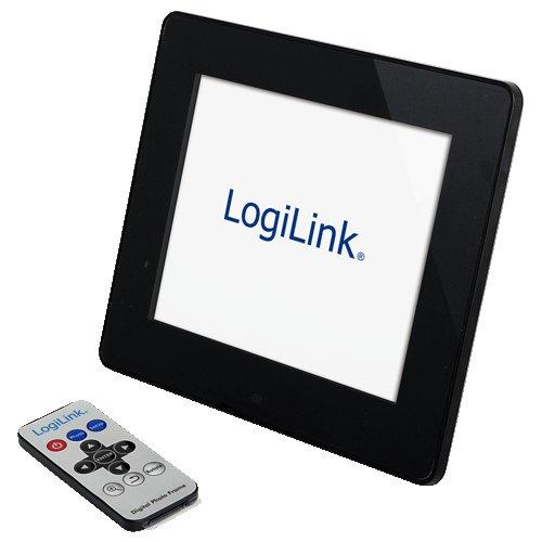 LogiLink PX0017 Digital 7″ LCD Foto Frame, für JPEG files, unterstützt SD / SDHC Cards und USB Memory, Format 4:3, incl. Fernbedienung