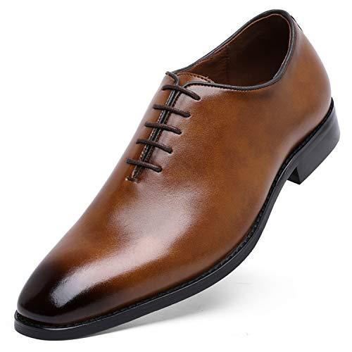DESAI DOLCARA Herren-Kleiderschuhe aus echtem Leder Oxford für Herren Klassische formelle Business Schnürschuhe, Braun (Braun 2), 39.5 EU