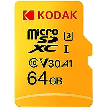 Docooler Kodak Tarjeta Micro SD de 32 GB 64 GB 128 GB 256 GB 512 GB TF Tarjeta de Memoria U3 A1 V30 100 MB/s 4 K