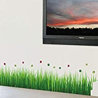 Green Grass Ladybug DIY Removable Art 768 Vinyl Wall Stickers Decor Living Room Bedroom Mural Decal