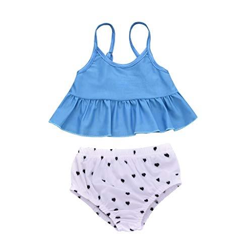 JERFER Badeanzug Kinder Mädchen Drucken Zweiteilig Badebekleidung Baden Anzug