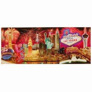 Las Vegas Magnet Fireworks Skyline 3D Oberfläche erhöhte Bilder Statue of Liberty 4,5x 2 (Las Vegas Cup)