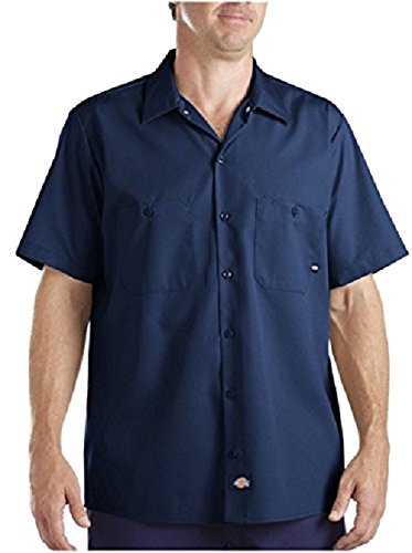 Dickies Littmann Workwear ls535nv Polyester/Baumwolle Herren Short Sleeve Industrial Work Shirt, navy blue, XXL, marineblau, 1 -