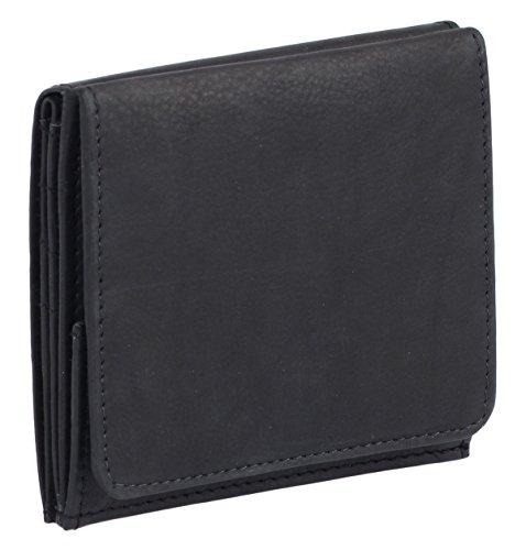 LEAS Wiener Schachtel mit großem Kleingeldfach, Echt-Leder, schwarz Special Edition
