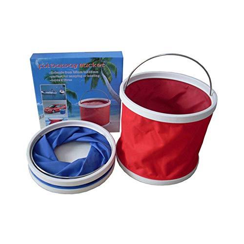 nklappbare Camping Angeln WasserEimer, 9L tragbare Lagerung Klappwasserbehälter, ideal für Outdoor-Reisen, Angeln und Autowäsche. ()