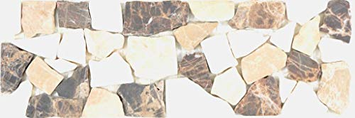 Marmor Bordüre Bordüre Ciot Castanao Biancone Wand Boden Küche Dusche Bad Fliesenspiegel|WBBOR-CB15|1Bordüre