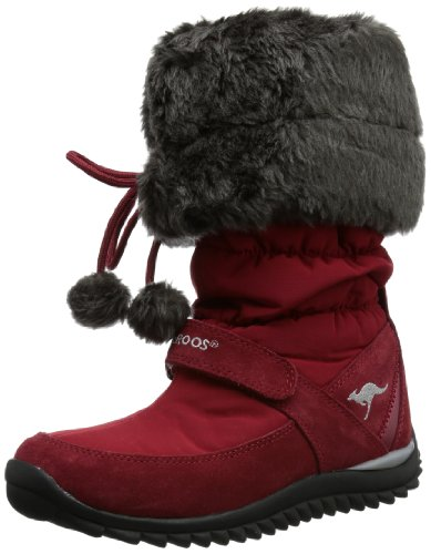 Kangaroos Puffy Hi, Bottes de neige femme Rouge (610)