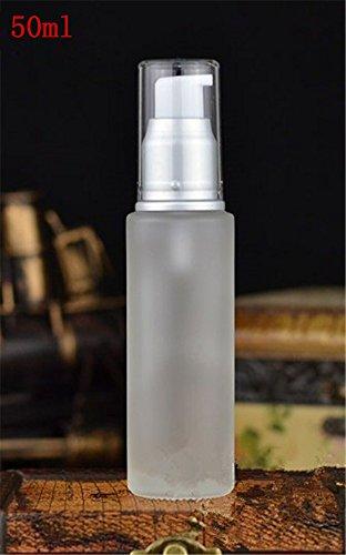 Interesting 1PC Matte Blank Lotion dispensador de la Bomba Botella de Vidrio envases de Crema para el Cuidado cosmético de la Crema de la Piel