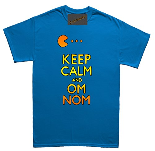 Renowned Keep calm and om nom Unisex - Kinder T Shirt Blau