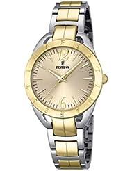 Festina Damen-Armbanduhr MADEMOISELLE Analog Quarz Edelstahl F16933-1