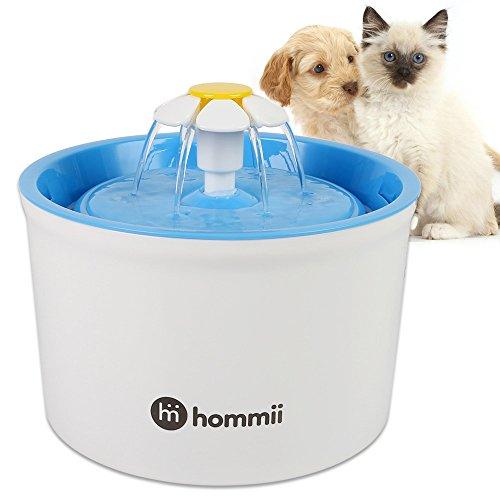 Hommii Hommii Hp-88 Fontaine À Eau Pour Chat Et Chien Automatique Électrique 1.6 L Fontaine À Fleur Bleu