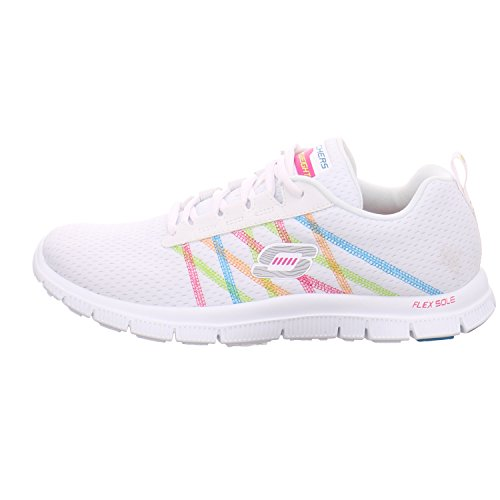 Skechers 11885 WMT, Scarpe stringate donna (11 White Multi)