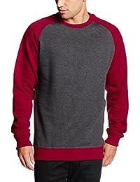 Urban Classics Herren Sweatshirt 2-Tone Raglan Crewneck
