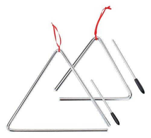 XDrum Triangel Starter SETl klein 15cm + groß 25cm, inkl. Schlägel
