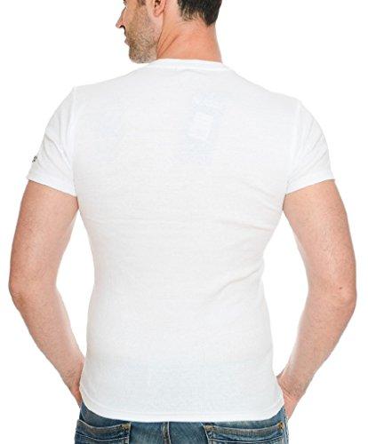Geographical Norway Herren Ripp T-Shirt JASLO MEN White