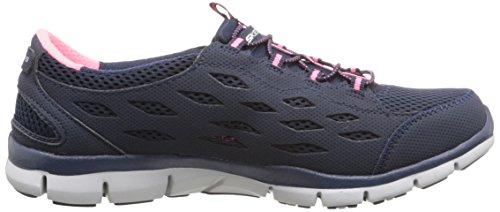 Skechers Sport GRATIS Bungee pour femme Mode Sneaker Bleu marine/rose