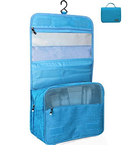 Kulturtasche zum Aufhängen Faltbarer Reise Kulturbeutel mit Tragegriff, Waschtasche, Waschbeutel für Herren, Damen (Blau)